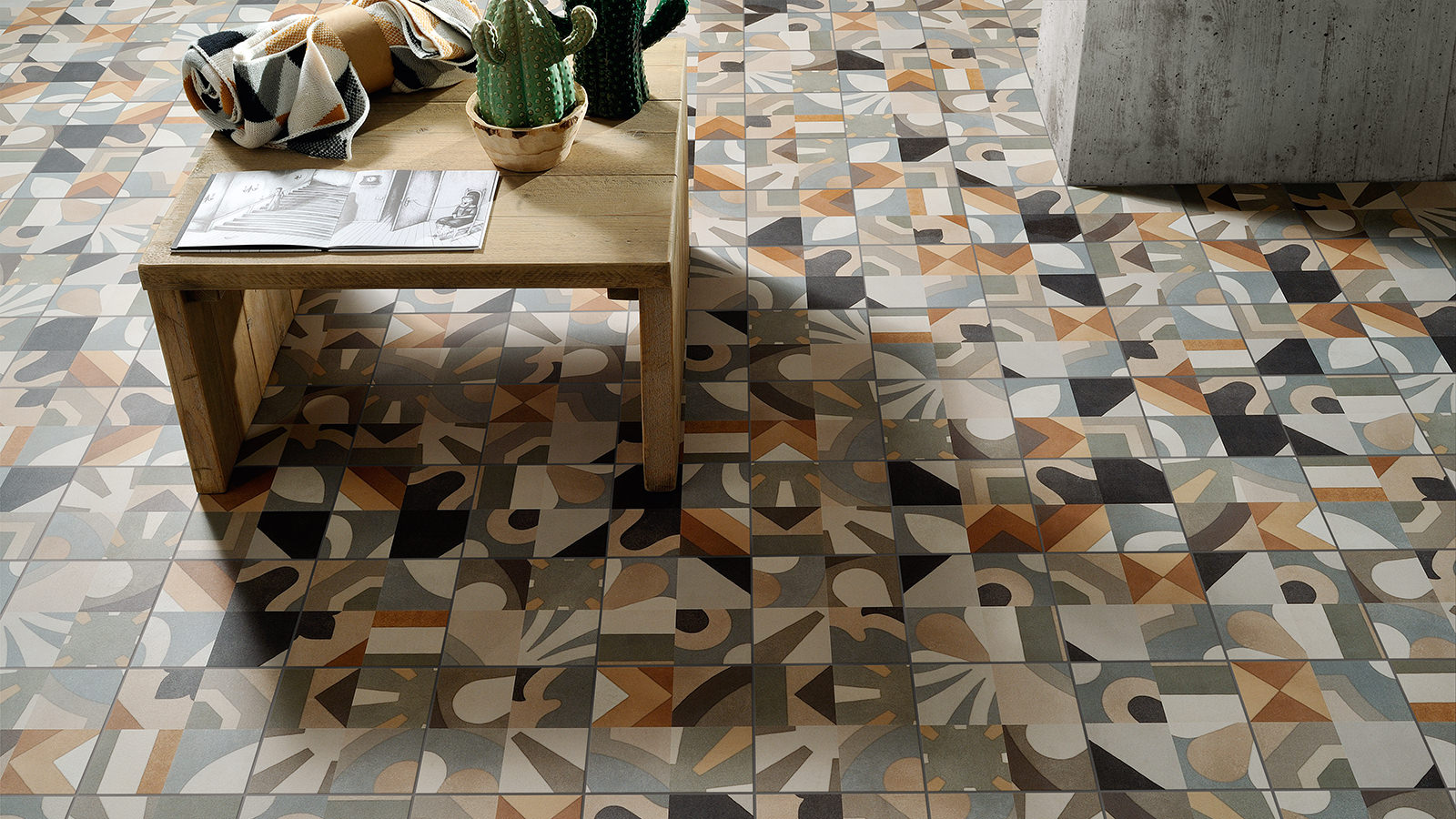 Fioranese ceramiche fliesen feinsteinzeug cementine black white